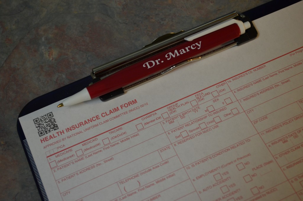 We can submit your medical insurance form for your chiropractic benefits to be sent to you.