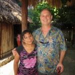 Robert and a Mayan woman
