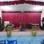 The church altar