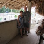 Dr. Marcy & Robert under a palapa